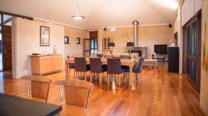 Huge indoor area inside the Margaret River Lodge