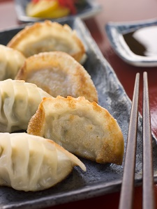 Fried Pork and Shrimp Dumplings