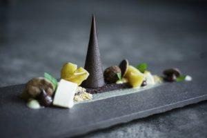 Amazing chocolate, fruit and nuts dessert platter