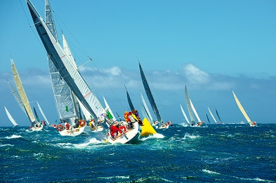 Sailing yachts regatta