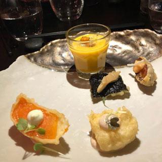 Mikis open kitchen sashimi