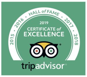 TripAdvisor Hall of Fame winner