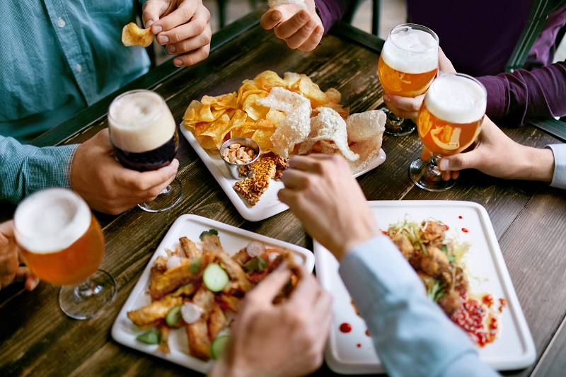 Most of the breweries have a range of delicious snacks and meal options