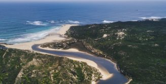 Spectacular Margaret River scenery from the air