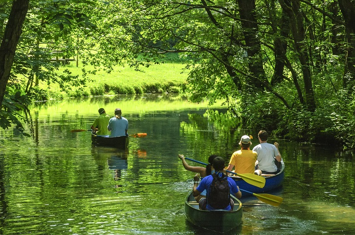 Enjoy a relaxing canoe tour