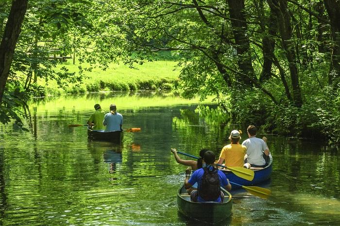 Enjoy a relaxing canoe tour
