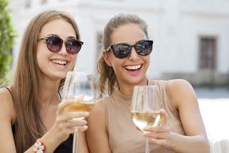 Girls Enjoying Wine Tour