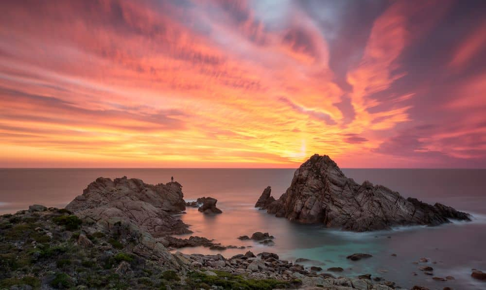 Watch spectacular sunsets at Sugarloaf Rock.