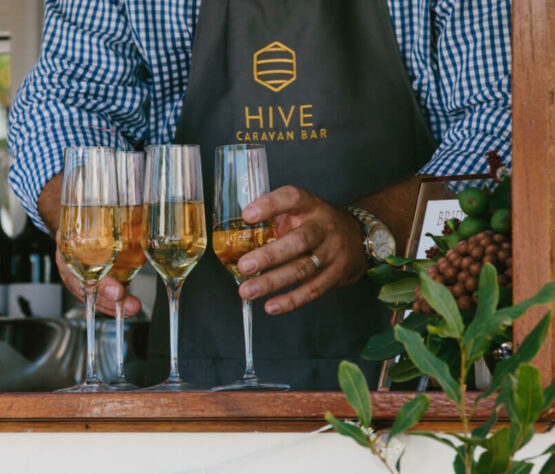 Drinks and Barmen at the Hive