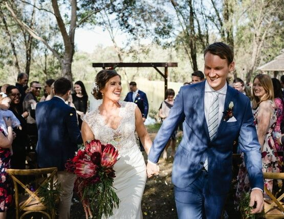 Forest Rise Chalets and Lodge Wedding with Bride and Groom