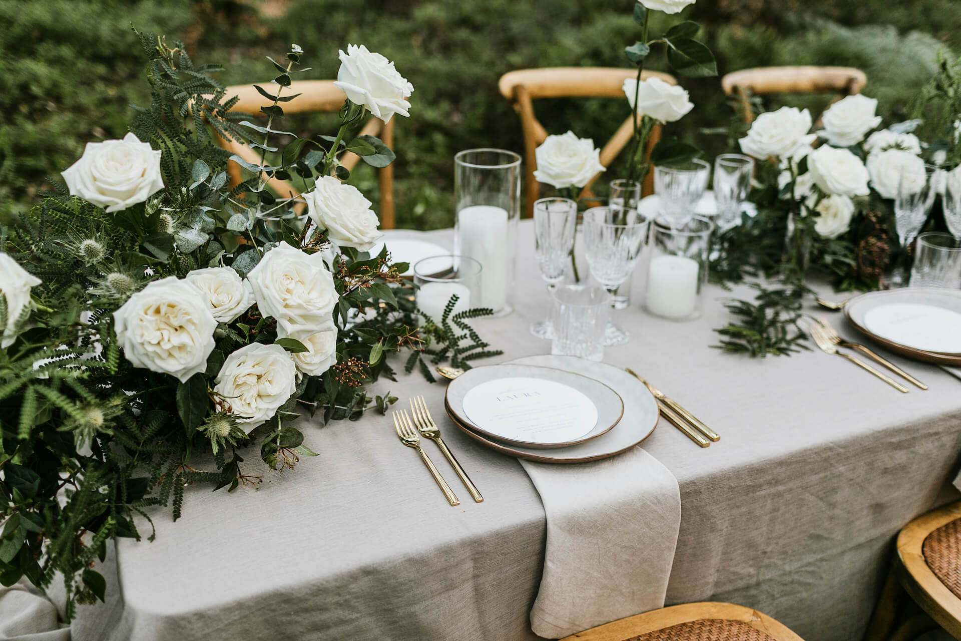 South West Events Wedding Table.